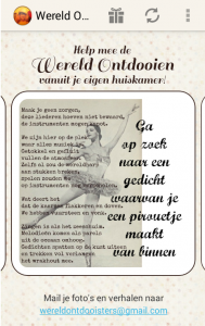 wereldontdooisters gedicht